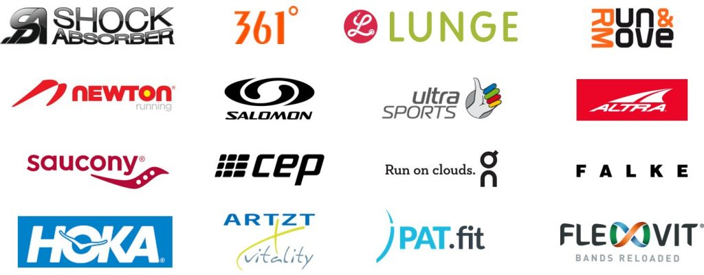 On Running, Shock Absorber, 361°, Lunge, Newton, Salomon, Ultra Sports, Altra, Saucony, CEP, Falke, Hoka, Artzt